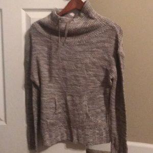Women's tan cowl neck sweater